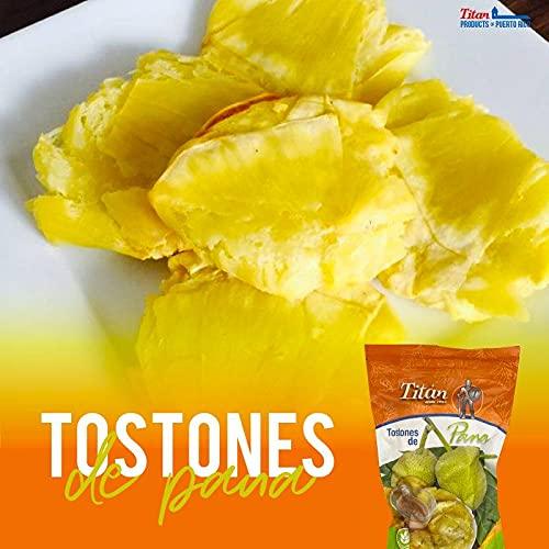 Tostones de Pana,Titan Tostones de Pana, Tostones de Puerto Rico, Tostones, Breadfruit Tostones - 20 Ounces