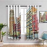 SONGDAYONE Europe - Cortina para armario, diseño de flores, color verde y azul, poliéster, Color07, W84 x L84 Inch