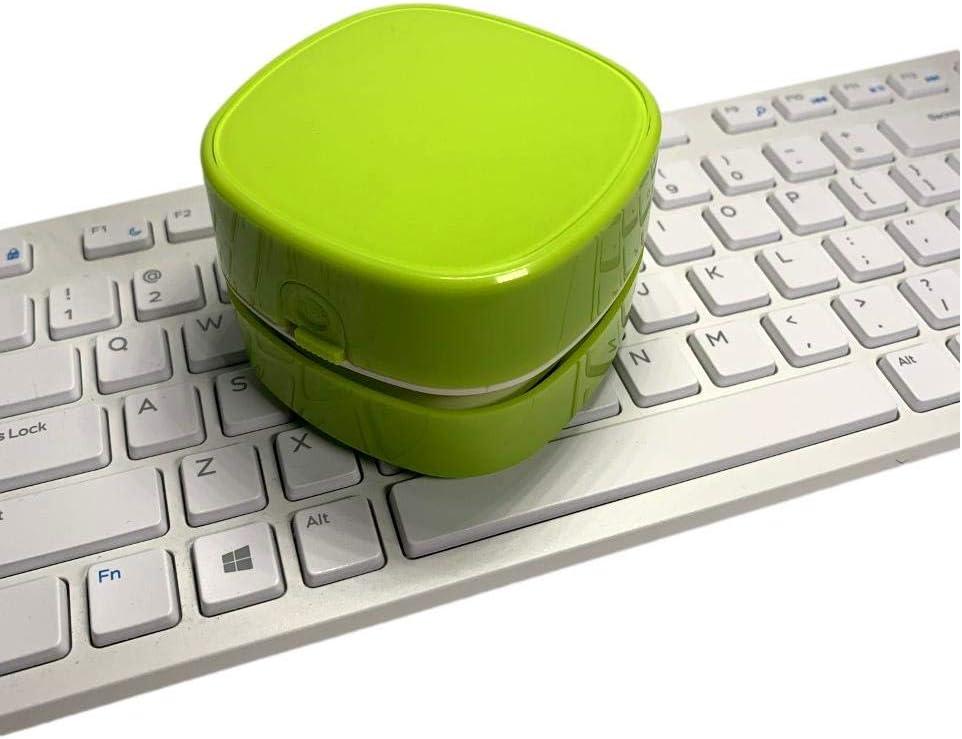 ZogeeZ Mini Desktop Vacuum Cleaner Wireless (2 AA Batteries not Included) Computer Keyboard Dust Cleaner (Green)