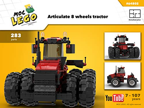 Articulate 8 wheels tractor (Instruction Only): MOC LEGO (English Edition)