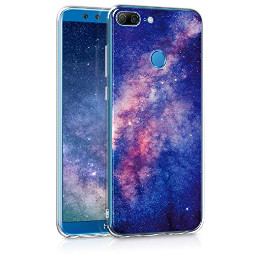 kwmobile Huawei Honor 9 Lite Hülle - Handyhülle für Huawei Honor 9 Lite - Handy Case in Galaxie Sterne Design Rosa Pink Dunkelblau