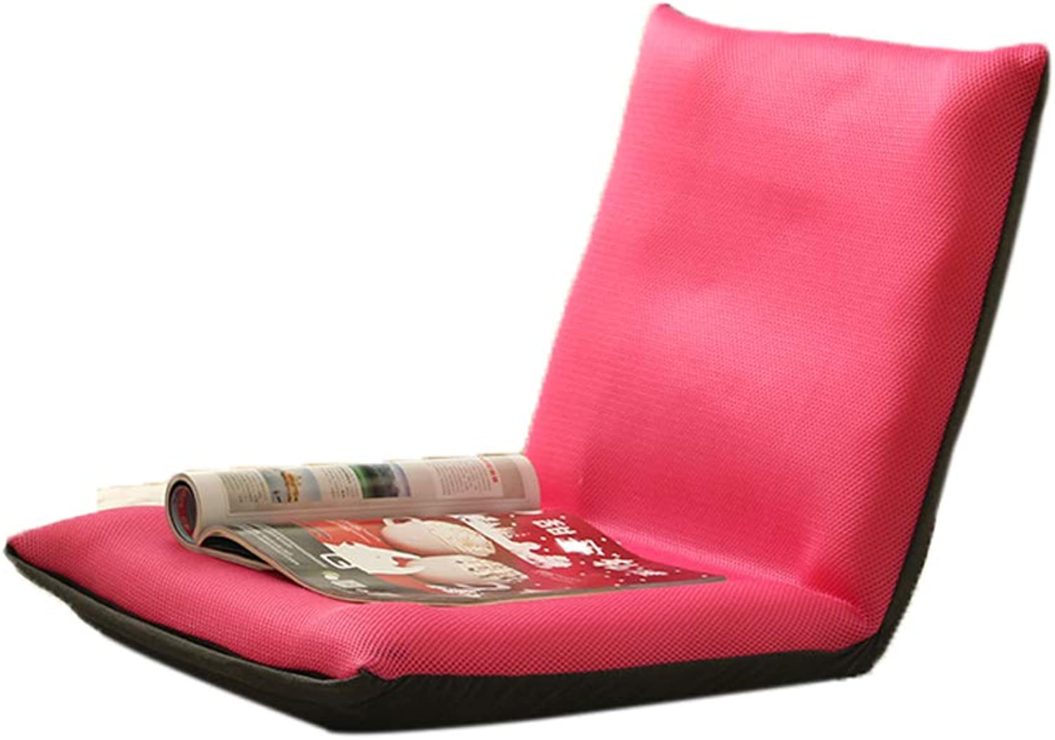 FH Lazy Couch, Tatami Foldable Small Sofa Bedroom Bedside Floor Balcony Back Floor Chair, Multi-color Choice (color   Pink, Size   Small)