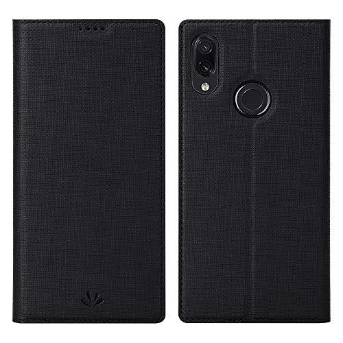 Eastcoo Ersatz für Xiaomi Redmi Note 7 Pro/ Note 7 Hülle Premium PU Leder Handyhülle Brieftasche-Stil Magnetisch Folio Flip Klapphülle Schutzhülle Mit StandfunktionTasche Cover (Note 7 Pro,Schwarz)