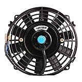 Universal Slim Fan Push Pull Electric Radiator Cooling Fans 12V 80W Engine Fan with Mount Kit (Diameter 8.27' Depth 2.56')