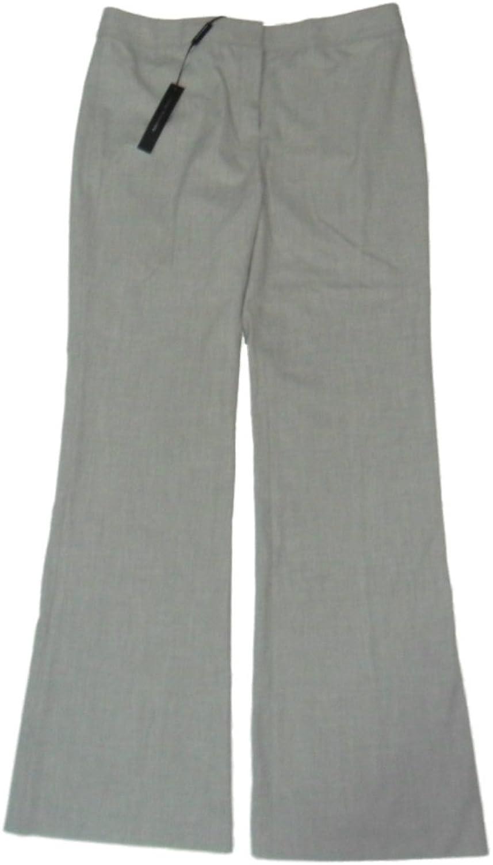 Elie Tahari Theora Dress Pants Wide Leg Flat Front 4 Light Grey