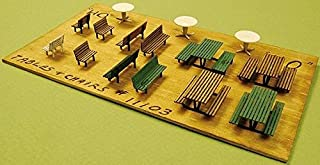 GC Laser HO Scale Sets of TABLES, CHAIRS, BENCHES New Item 11103