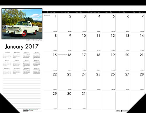 "House of Doolittle 2017 Monthly Desk Pad Calendar, Earthscapes Classic Cars, 22 x 17"" (HOD169-17)"