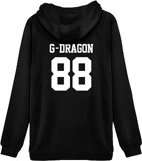 Kpop Bigbang Hoodie Sweater G-Dragon TOP SOL D-LITE V.I Jacket Pullover
