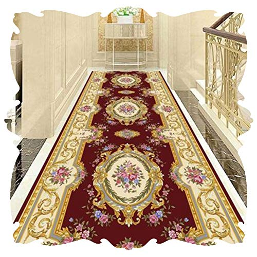 ZWRYW Long Rug Runner For Hallway Corridor Carpet Area Rugs European Style Modern Odorless Non-slip Practical Mat Balcony Bathroom Bedroom Multifunction Can Be Cut