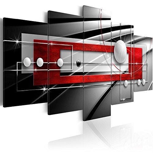 murando - Cuadro en Lienzo 200x100 cm Abstracto Impresión de 5 Piezas Material Tejido no Tejido Impresión Artística Imagen Gráfica Decoracion de Pared Arte Balla a-A-0209-b-n