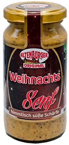 Altenburger Original Weihnachtssenf, 200ml im Glas, Senf mit himmlisch süßer Schärfe, glutenfrei und vegan