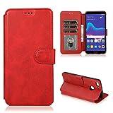 Étui de téléphone Portable Idéal pour Huawei Y9 2018 Texture de Mollet Boucle magnétique...
