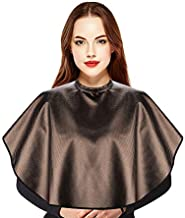 Noverlife Professional Short Hair Cape, Water Chemical Proof Mini Barber Cape for Hair Dye Shampoo Perming Conditioning Hot Oil Treatment, Shortie Comb-out Makeup Cape Bearding Shaving Shawl