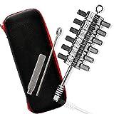 Loboo Idea Ford Tibbie herramienta de mano para recoger y decodificar, lector de 6 cilindros para herramientas de cerrajero con funda de cuero