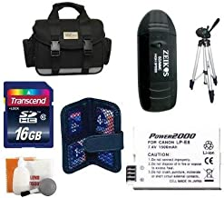 Loaded Value Tripod & LP-E8 Battery 16 GB Kit for Canon Rebel T4i, T3i and T2i Digital Camera