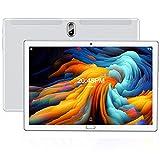 Tablet 10 Zoll FEONAL Android 10 Tablet PC, 1080P FHD IPS, 4GB RAM+64GB ROM, 128GB Erweiterung, 6000mAh Akku, Octa-Core, 4G LTE Dual SIM | Wi-Fi | GPS | Bluetooth - Silber