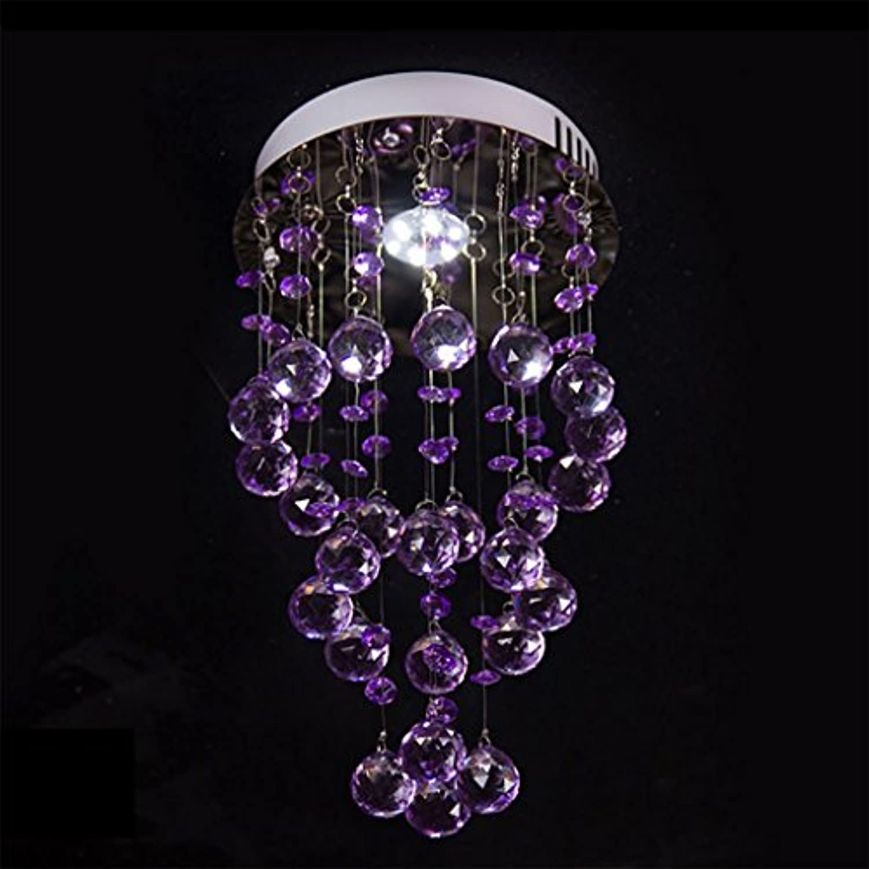 PENGFEI Deckenleuchte Kristall LED Weies Licht Warmes Licht 4W  1 Lampe, 4 Farben (Farbe   Lila)