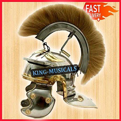 NASIR ALI Imperial Roman Centurion Helm mit blondem Plume ~ Gladiator Kostüm...