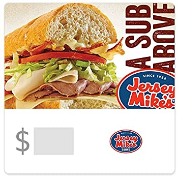Jersey Mike s Gift Cards Configuration Asin - Email Delivery