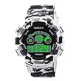 Winkey Herren-Armbanduhr, digital, LED, analog, Quarz, mit Alarm, Datum, Sport-Armbanduhr Band a