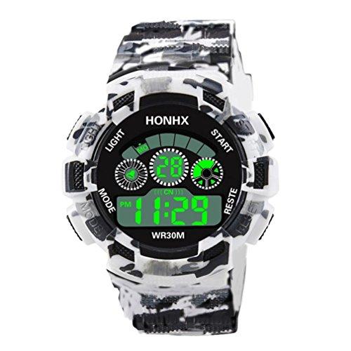 Winkey - Reloj de pulsera para hombre, analógico, de cuarzo, analógico, con alarma, fecha y fecha, para hombre correa a