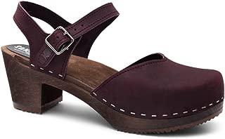 Sandgrens Swedish Wooden High Heel Clog Sandals for Women | Victoria