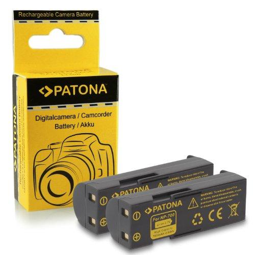 PATONA 2X Bateria reemplazo para Konica Minolta NP-700, Pentax D-LI72, Samsung SLB-0637, Sanyo DB-L30