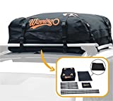 WINNINGO Cargo Bag, Water Resistant Cargo Bag Easy to Install Soft Rooftop Luggage Carriers Works with or Without Roof Rack (Free Waterproof Cover) (Old)