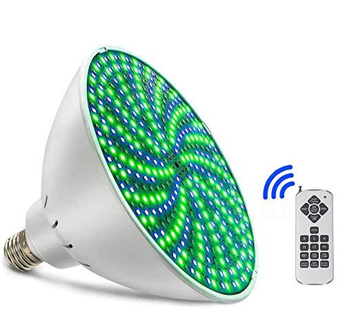 LLC-POWER 35W Changement De Couleur De L'ampoule LED Piscine Lumières, Remplacement pour Pentair Hayward Lumière, Éclairage sous-Marine avec Télécommande pour Fontaine De Jardin Cascade