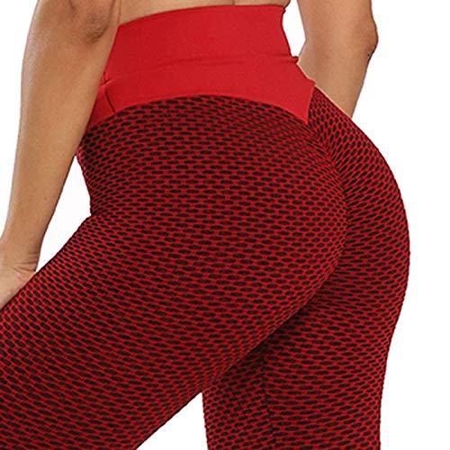NAQUSHA Pantalones de yoga elásticos para mujer, talla grande, con textura de burbujas, levantamiento de glúteos, gimnasio, deportes, correr, ajustados, leggings de longitud completa