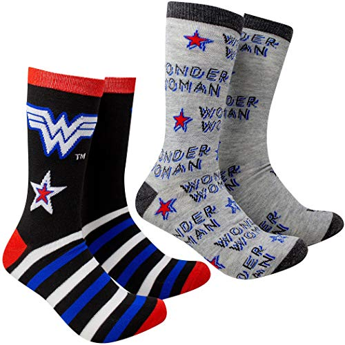 Wonder Woman Stars and Stripes 2er Pack Casual Crew Socken