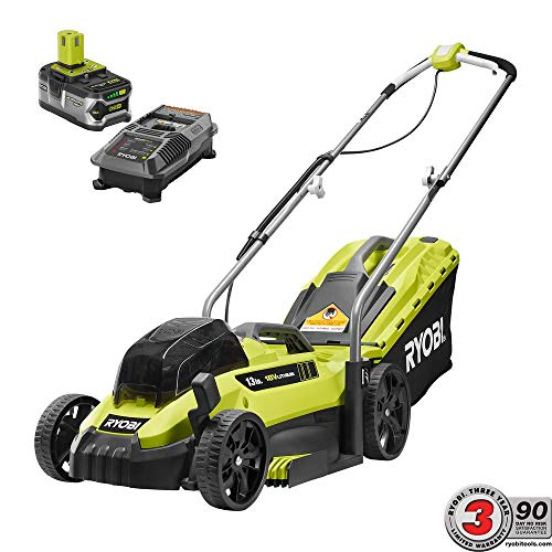 RYOBI 13 in. ONE+ 18-Volt Lithium-Ion Cordless Battery Walk Behind Push Lawn Mower - 4.0 Ah Battery/Charger Included