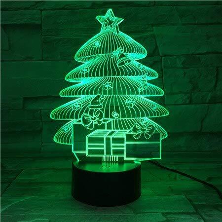 Nur 1 Stück Led Nachtlicht Weihnachtsbäume für Kinder Kinderzimmer Dekorative 3D Illusion Acryllampe Kleine Lampen für Nachtclub Bar