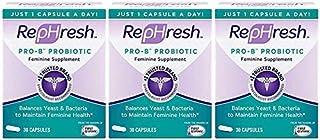 Rephresh Pro-B Probiotic Feminine Supplement. 3 Month Supply- (90 Capsules)