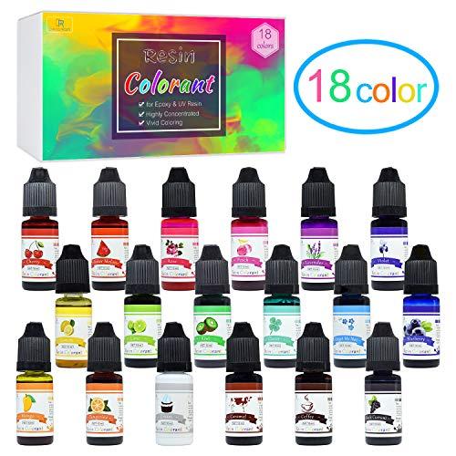 Colorante Resina Epoxi UV 18 Colores