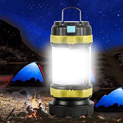 JTYX Lámpara de Campamento Luz LED para Acampar Linterna Recargable USB Foco Regulable Luz de Trabajo Proyector Impermeable Antorcha de Emergencia