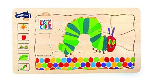 10431 Puzzle a strati Bruco Maisazio small foot in legno, 5 strati con diversi motivi, da 3 anni in poi