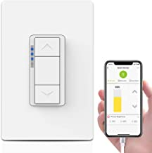 Ankuoo Smart Dimmer Switch Works with Alexa, DIY, Hub Easy installation and App control as On/Off/Timer, Neutral Wire Required, Single Pole Only, 4.1