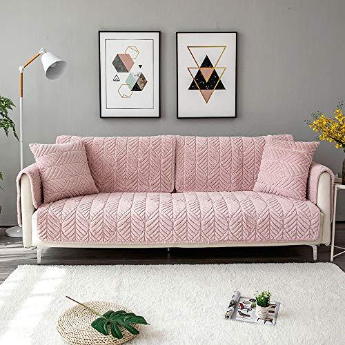 JIAHENGY Protector de Muebles para Sofá ,Funda de sofá Antideslizante, Funda de sofá de protección de Muebles Lavable, Adecuada para Varios sofás modulares-Rosado_110x240cm / (43x95 Pulgadas)
