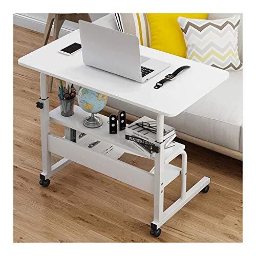 XJL Tavolo Pieghevole Laptop Table Tavolino Altezza Regolabile, Portatile Tavolo Laptop Tavolo for Notebook PC (Color : White A, Size : 60X40cm)