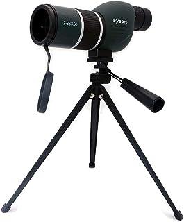 NUZAMAS 12 36X50 Spektiv Teleskop und Stativ Set   Wasserdichtes Zoom Einrohr Teleskop Monokular für Vogelbeobachtung, Reisen, Jagd, Angeln, Fußballspiele, Outdoor Konzerte