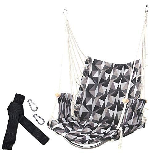 Balançoires YXX Corde Suspendu Hamac Chaise Siège de for Patio, Porche, Chambre à Coucher, Arrière-Cour, intérieur ou extérieur - Capacité de 100 kg, Haute 55cm