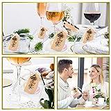 Minterest 50 Stück Gastgeschenke Hochzeit, Vintage Bronze Schlüssel Flaschenöffner, Durchsichtige Tasche, Geschenkanhänger aus Braunem Kraftpapier, Bindfäden aus Natürlicher Jute - 2