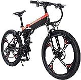 Bicicleta electrica Bicicletas, bicicleta eléctrica plegable para adultos, 27 velocidades de montaña de montaña / bicicleta de viaje con motor de 400 vatios, marco de aleación de magnesio liviano MTB