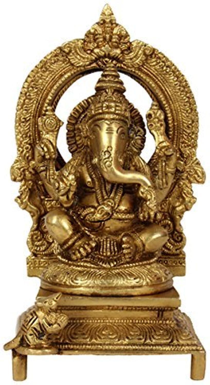 Purpledip Ganesha Ganapathi Ganesh Vinayaka Statue Idol Brass Sculpture (10025)