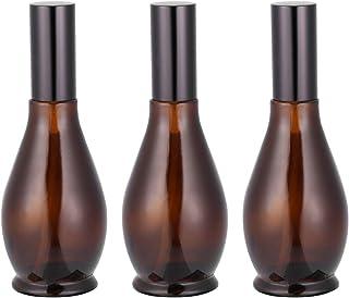 Lurrose 3Pcs Ámbar Botellas de Spray - Perfumes 100Ml de Vidrio Vacíos Atomizador Botella Fina Niebla Pulverizador para Lo...