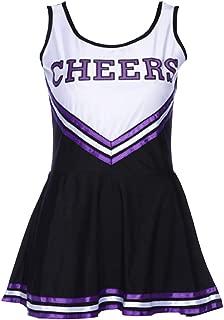 Womens Plus Size Varsity High School Cheer Girl Sexy Cheerleader Dress Costume Musical Uniform Outfit