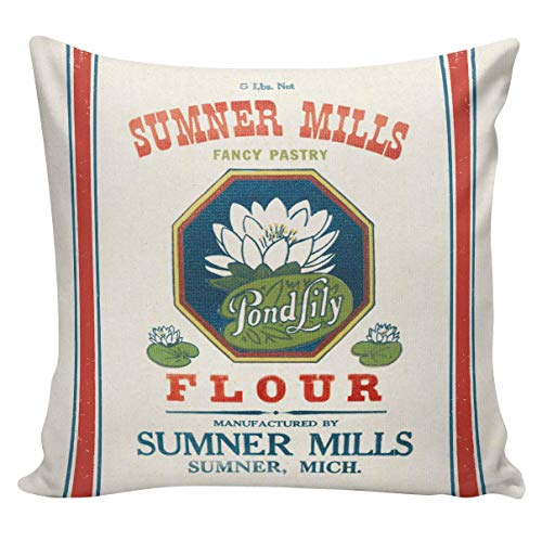 N\A Funda de Almohada Saco de Cereales Almohada para lanzar Almohada Saco de harina Vintage Frente