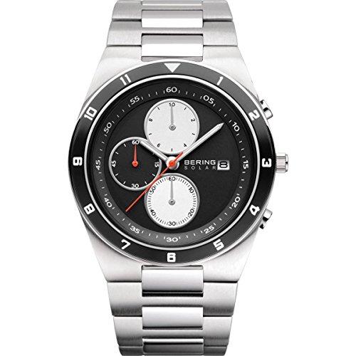BERING Reloj Analógico para Hombre de Energía Solar con Correa en Acero Inoxidable 34440-702