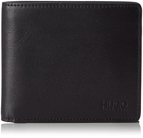 HUGO Subway 4 cc Coin 10143382 01 50312008_001 Herren Geldklammern, Schwarz (Black 001), 2 x 11 x 10 cm (B x H x T)